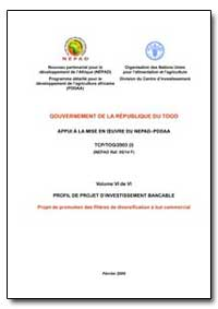 Volume Vi de Vi Profil de Projet Dinvest... by Food and Agriculture Organization of the United Na...