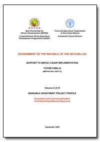 Volume V of Vi Bankable Investment Proje... by Food and Agriculture Organization of the United Na...