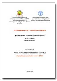 Gouvernement de Lunion des Comores Appui... by Food and Agriculture Organization of the United Na...