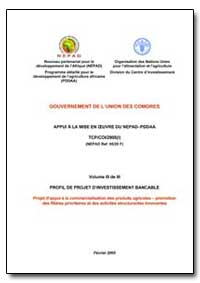 Volume III de III Profil de Projet Dinve... by Food and Agriculture Organization of the United Na...