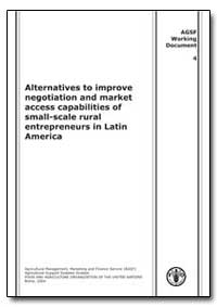 Alternatives to Improve Negotiation and ... by Food and Agriculture Organization of the United Na...