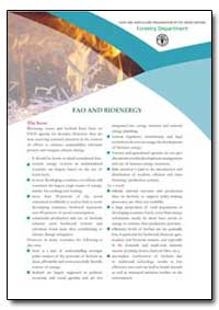 Fao and Bioenergy by Food and Agriculture Organization of the United Na...