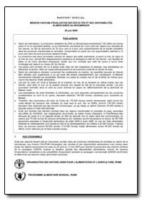 Rapport Special Mission Fao/Pam D'Evalua... by Food and Agriculture Organization of the United Na...