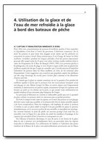 Utilisation de la Glace et de I'Eau de M... by Food and Agriculture Organization of the United Na...