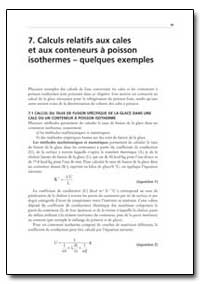 Calculs Relatifs Aux Cales et Aux Conten... by Food and Agriculture Organization of the United Na...