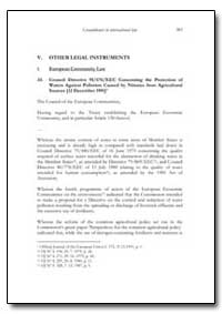 V. Other Legal Instruments by Food and Agriculture Organization of the United Na...