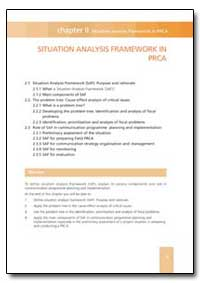 Situation Analysis Framework in Prca by Food and Agriculture Organization of the United Na...