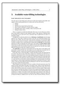 Available Water-Lifting Technologies by Food and Agriculture Organization of the United Na...