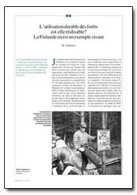 L'Utilisation Durable des Forets Est-Ell... by Vanhanen, M.