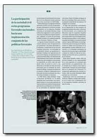 La Participation de la Sociedad Civil En... by Food and Agriculture Organization of the United Na...