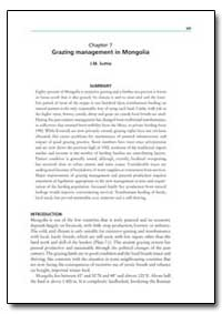 Chapter 7 Grazing Management in Mongolia by Suttie, J. M.