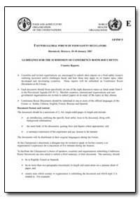 Guidelines for the Submission of Confere... by Food and Agriculture Organization of the United Na...