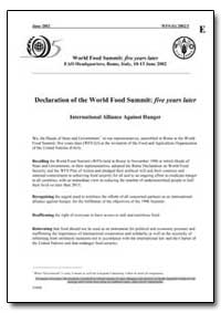 Declaration of the World Food Summit Fiv... by Food and Agriculture Organization of the United Na...