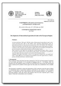 Developments of International Agricultur... by Food and Agriculture Organization of the United Na...