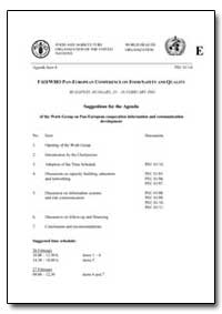 Fao/Who Pan-European Conference on Food ... by Food and Agriculture Organization of the United Na...