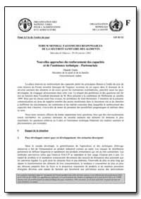 Nouvelles Approches du Renforcement des ... by Food and Agriculture Organization of the United Na...