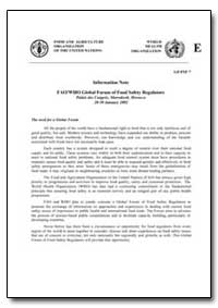 Information Note Fao/Who Global Forum of... by Food and Agriculture Organization of the United Na...