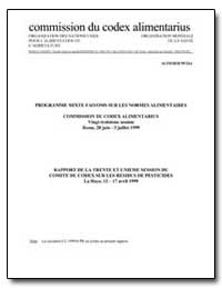 Rapport de la Trente et Unieme Session d... by Food and Agriculture Organization of the United Na...