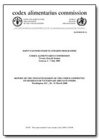 Report of the Twelfth Session of the Cod... by Food and Agriculture Organization of the United Na...