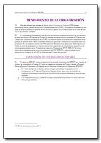 Rendimiento de la Organizacion by Food and Agriculture Organization of the United Na...