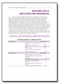 Resumen de la Ejecucion Del Programa by Food and Agriculture Organization of the United Na...