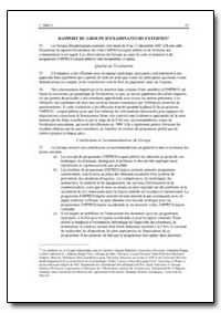 Rapport du Groupe Dexaminateurs Externes by Food and Agriculture Organization of the United Na...