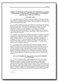 Chapitre Six Evaluation du Programme 2. ... by Food and Agriculture Organization of the United Na...