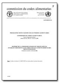 Rapport de la Troisieme Session du Group... by Food and Agriculture Organization of the United Na...