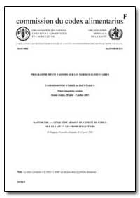 Rapport de la Cinquieme Session du Comit... by Food and Agriculture Organization of the United Na...
