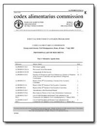 Provisional List of Documents by Food and Agriculture Organization of the United Na...