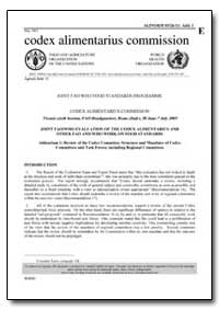 Addendum 1 Review of the Codex Committee... by Food and Agriculture Organization of the United Na...