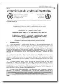 Addendum 3 Amelioration des Processus de... by Food and Agriculture Organization of the United Na...