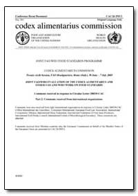 Joint Fao/Who Evaluation of the Codex Al... by Food and Agriculture Organization of the United Na...