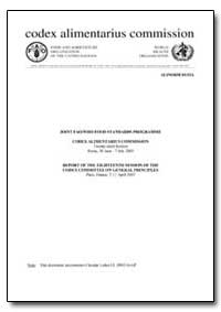 Report of the Eighteenth Session of the ... by Food and Agriculture Organization of the United Na...