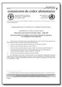 Liste des Projets de Normes et de Textes... by Food and Agriculture Organization of the United Na...
