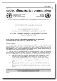 Selection of Experts and Working Procedu... by Food and Agriculture Organization of the United Na...