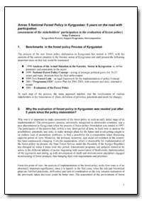 National Forest Policy in Kyrgyzstan 5 Y... by Food and Agriculture Organization of the United Na...