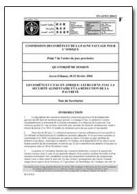 Les Forets et Leau en Afrique : Leurs Li... by Food and Agriculture Organization of the United Na...
