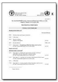 Provisional Timetable by Food and Agriculture Organization of the United Na...