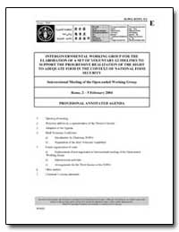 Provisional Annotated Agenda by Food and Agriculture Organization of the United Na...