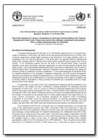 Recent Developments in Consumer Particip... by Food and Agriculture Organization of the United Na...