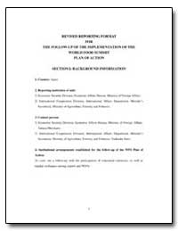 Revised Reporting Format for the Follow-... by Food and Agriculture Organization of the United Na...