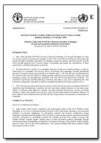 Activities of the Joint Fao/Iaea Divisio... by Food and Agriculture Organization of the United Na...