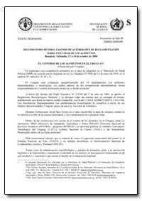 El Control de Los Alimentos en El Urugua... by Food and Agriculture Organization of the United Na...