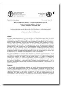 Fondement Juridique Aux Fins de Controle... by Food and Agriculture Organization of the United Na...