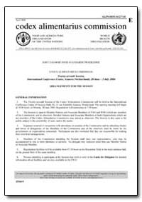 Arrangements for the Session by Food and Agriculture Organization of the United Na...