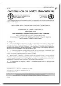 Suite Donnee a L'Evaluation Conjointe Fa... by Food and Agriculture Organization of the United Na...