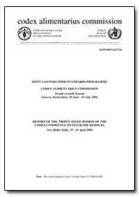 Report of the Thirty-Sixth Session of th... by Food and Agriculture Organization of the United Na...