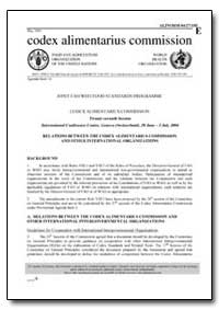 Relations between the Codex Alimentarius... by Food and Agriculture Organization of the United Na...