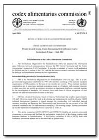 Iso Submission to the Codex Alimentarius... by Food and Agriculture Organization of the United Na...
